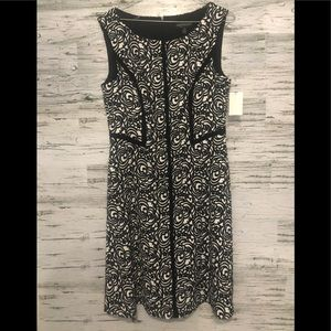 NWT Connected Apparel black & white Dress